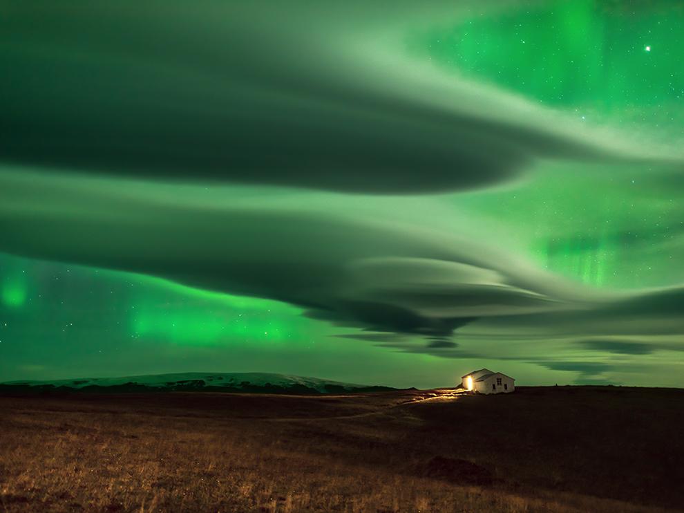 Kuzey Işıkları, İzlanda
