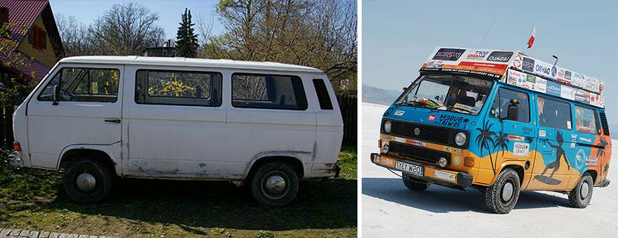 Günde 8$ Harcayarak Minibüsleriyle 50'nin Üzerinde Ülke Geziyorlar