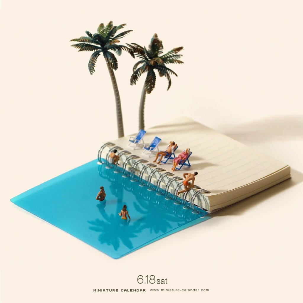 Japon Sanatçının 5 Yıldır Her Gün Oluşturduğu Minyatür Dioramalar